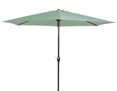 Parasol Gemini soft green 3mtr