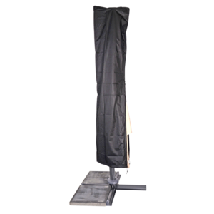 Beschermhoes zwart zweefparasol, stok, 3x4m, waterdicht